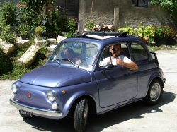 Me in the Fiat 500