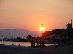 Sunrise over Corfu - I made it!