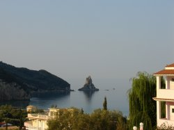 The view from our room in Corfu
