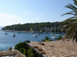 Welcome to Hvar (as seen from our balcony)