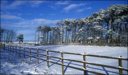 The snowy north of England
