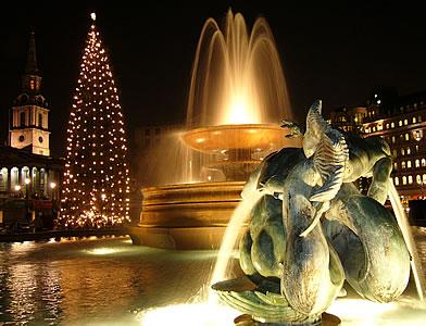Trafalgar Square at Christmas Time