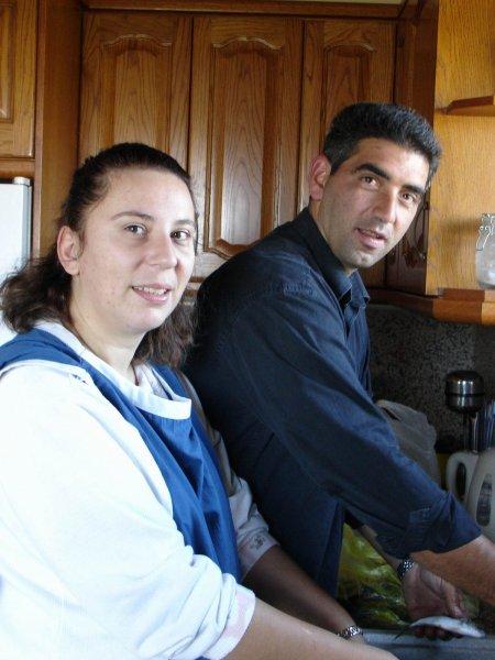 Ari & Maria cleaning fish