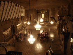 A grand room in the salt mines