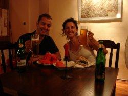 Dinner at the hostel