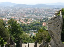 The view of Braga from Bom Jesus