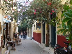 The old town in Rethymno