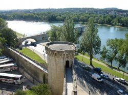 The Rhone river and Ponte Avignon