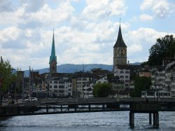 Zurich's famous clocks and churches