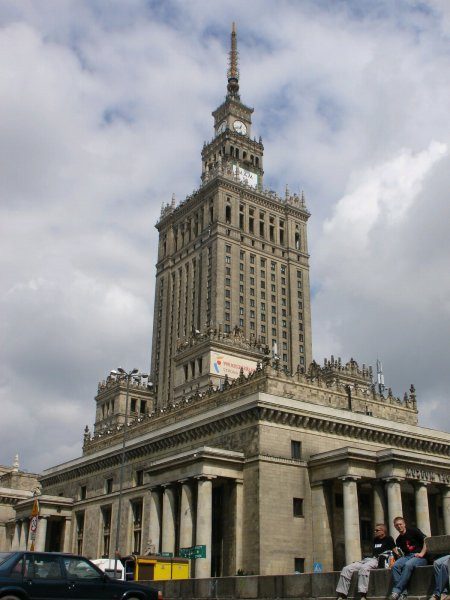 The big Palace of Culture in Warsaw