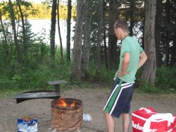 Darren uses his infrared vision to light the fire